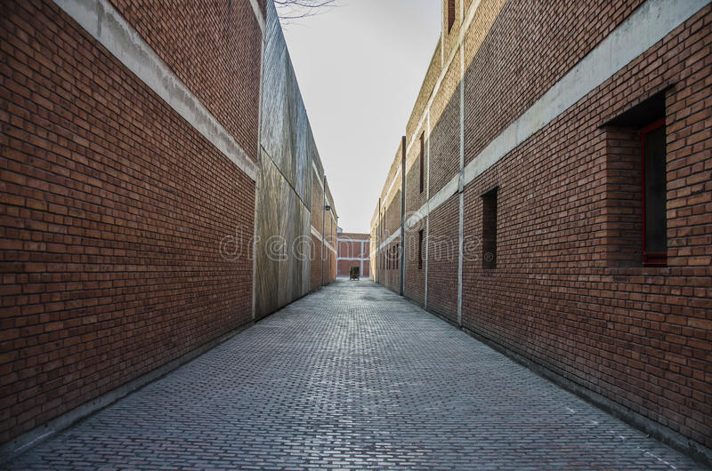 The Quiet alley stock photography