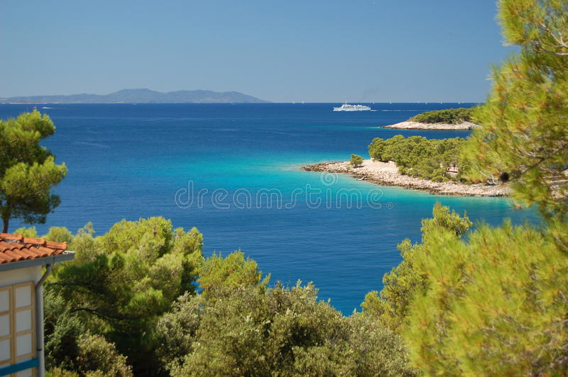 Picturesque gorgeous summer landscape of Dalmatian royalty free stock image