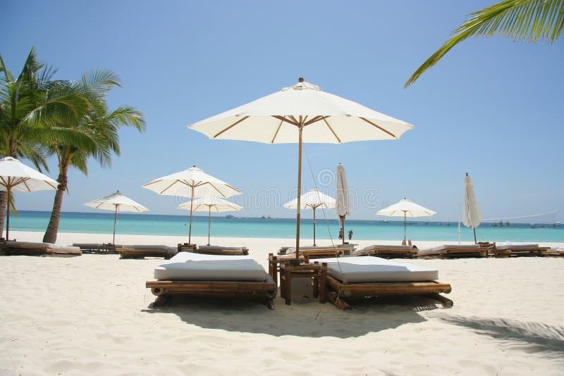 Quiet beach time stock image