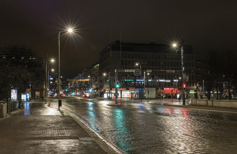 Quiet centre of Tampere royalty free stock photo