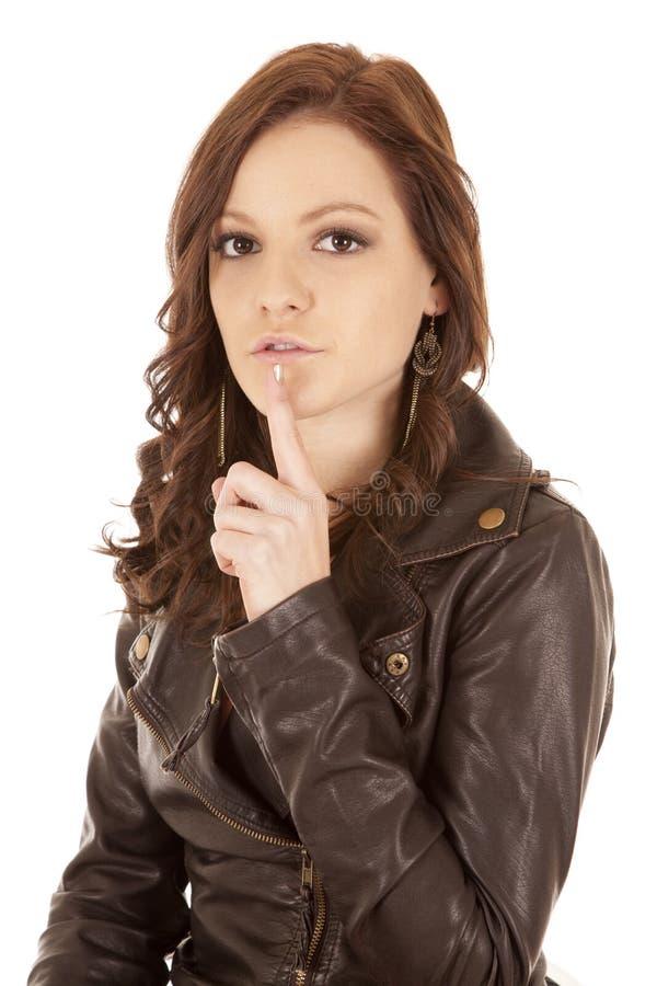 Quiet da mulher da expressão da face imagens de stock
