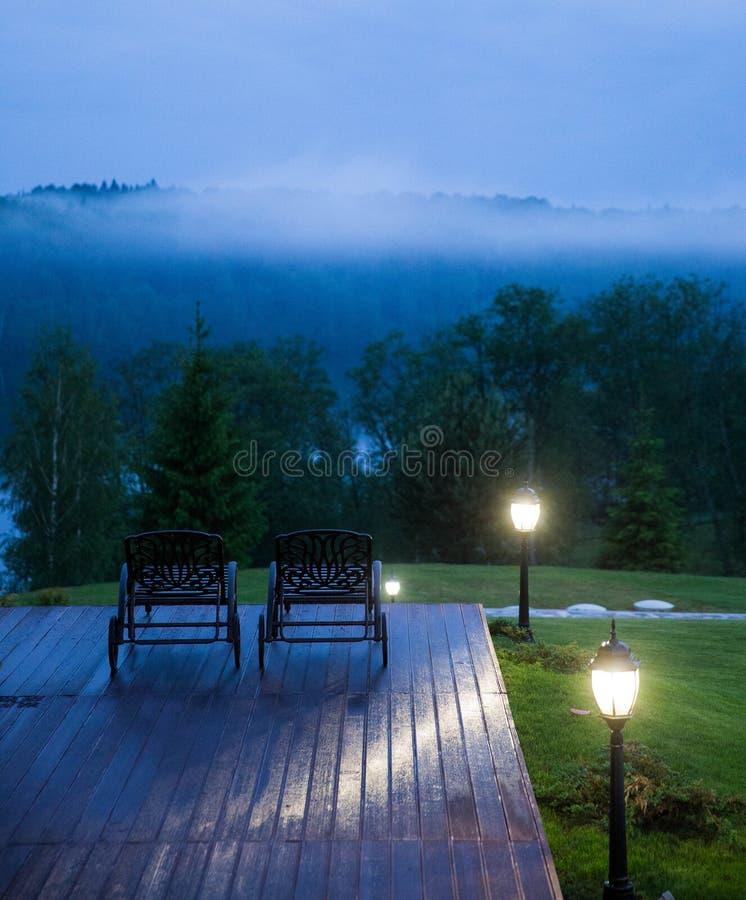 A quiet evening at Valdai stock photo