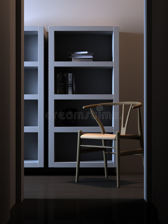 Download Quiet interior with chair stock illustration. Illustration of modern - 5285818