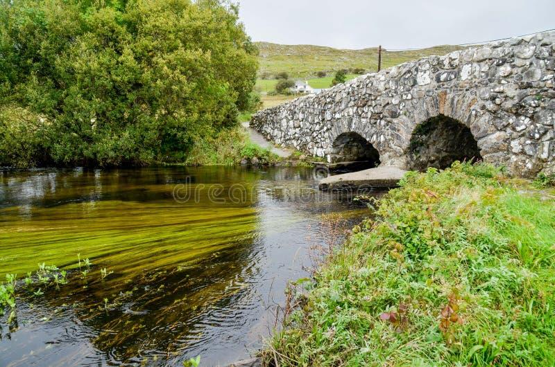 Quiet Man Stone Bridge Cong Ireland royalty free stock photo