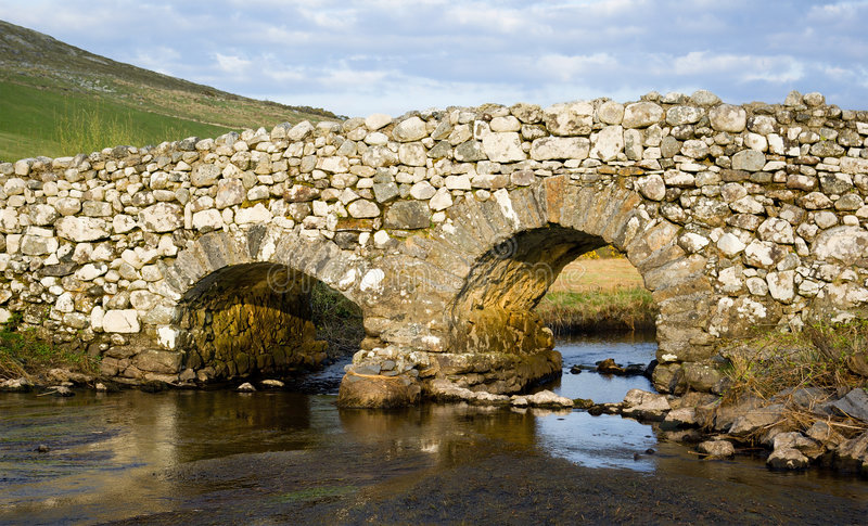 Quiet Man Bridge, Ireland stock photo