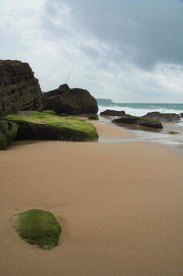 Quiet mediterranean beach royalty free stock photography