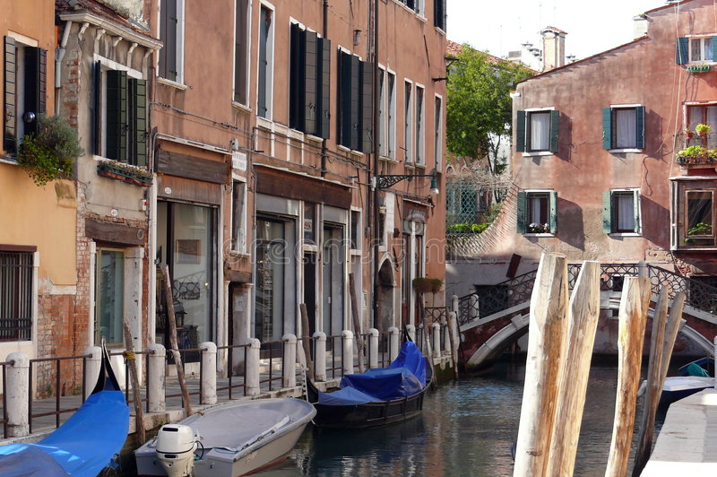 Quiet place in Venice royalty free stock photography