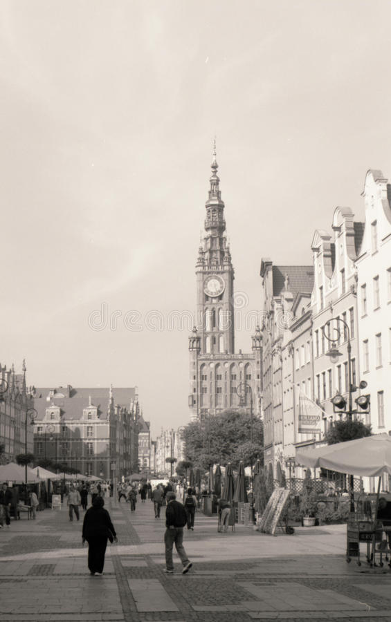 Quiet street life royalty free stock photography