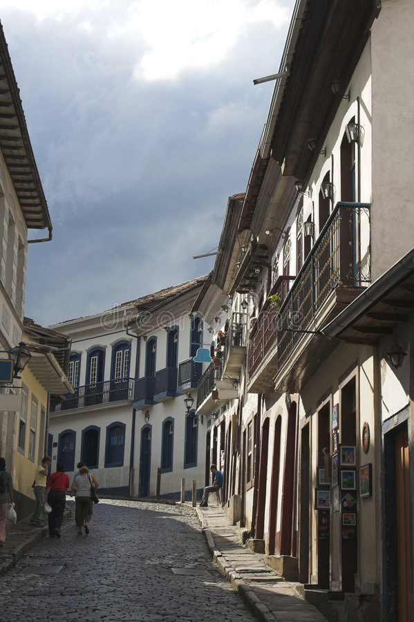 Quiet Street, Ouro Preto stock images