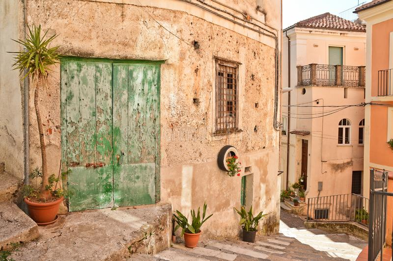A street in Rivello, a small town in the Basilicata region royalty free stock images