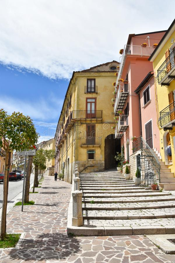 A street in the town of Frosolone, in central Italy. stock image