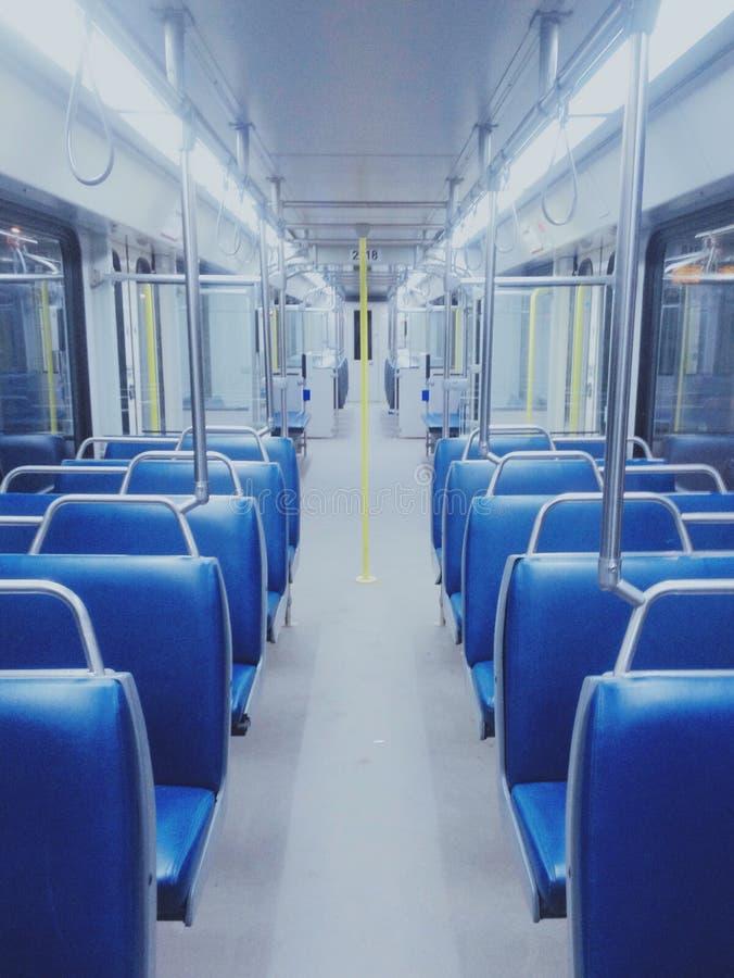 Quiet Train Ride stock image