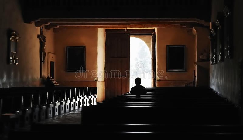 Quiet Worship stock photography