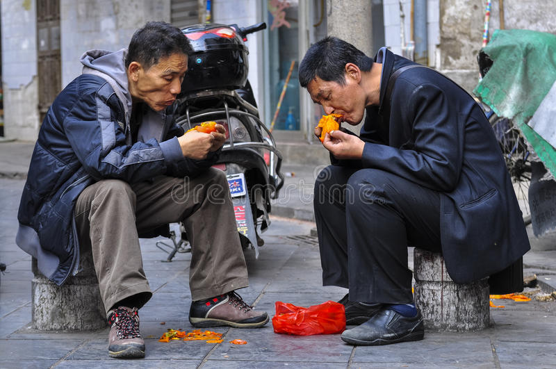 Quik lunch na ulicie Guilin fotografia stock