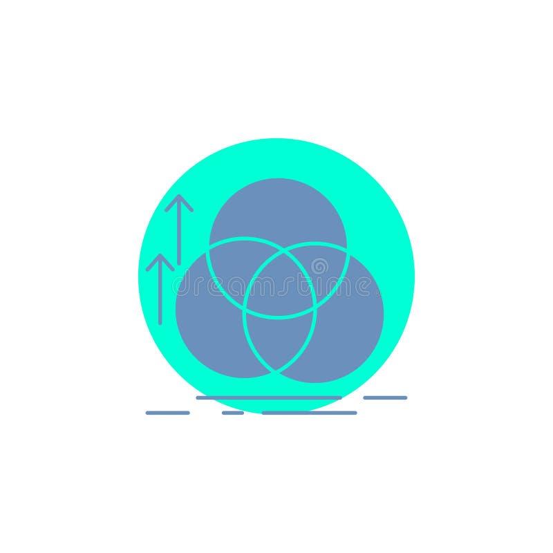 ?quilibre, cercle, alignement, mesure, ic?ne de Glyph de la g?om?trie illustration stock