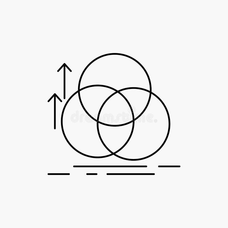 ?quilibre, cercle, alignement, mesure, ligne ic?ne de la g?om?trie Illustration d'isolement par vecteur illustration libre de droits