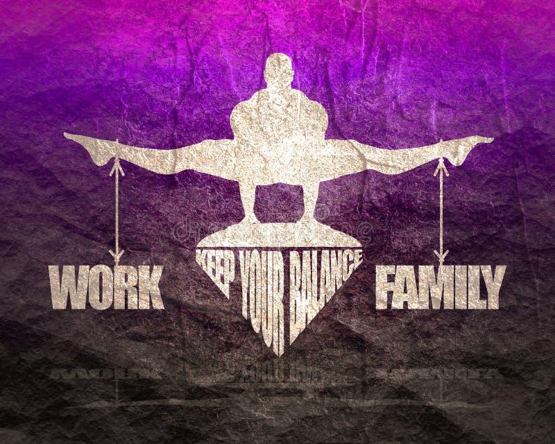 ?quilibre de travail et de famille illustration stock