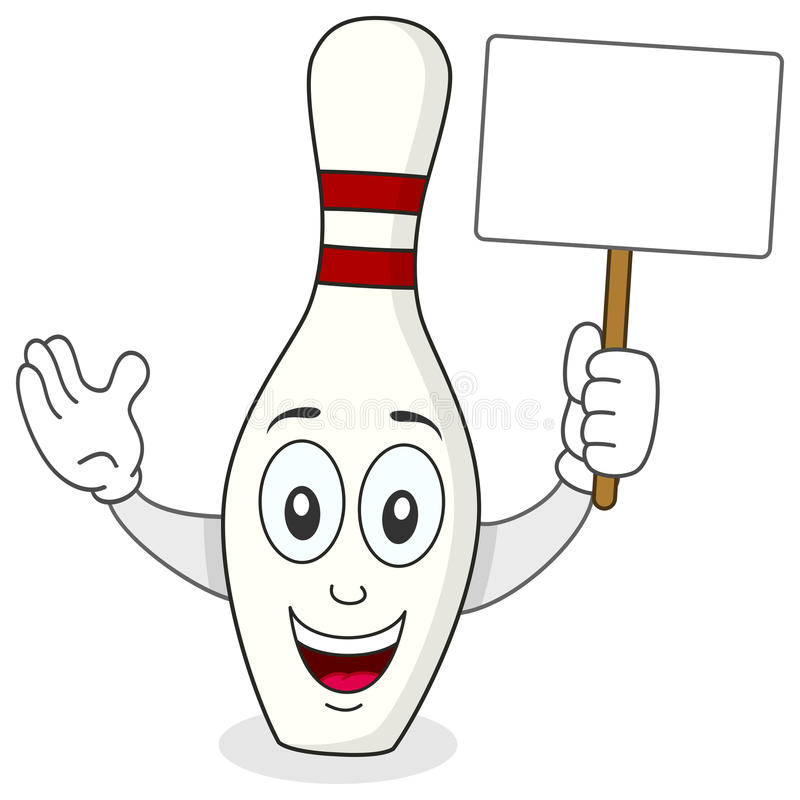 Quille ou Pin Cartoon Character de roulement illustration libre de droits