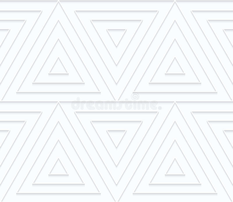 Quilling与垂距的白皮书三角 向量例证