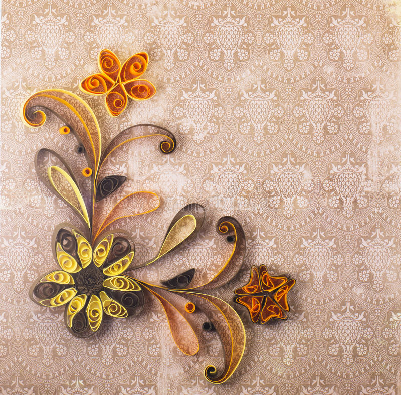 Quilling royalty free stock image