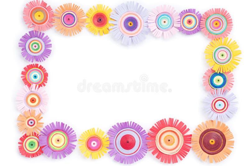 Quilling com flores coloridas fotografia de stock