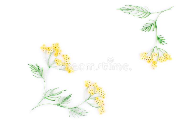 Quilling de papier, fleurs de papier colorées illustration de vecteur