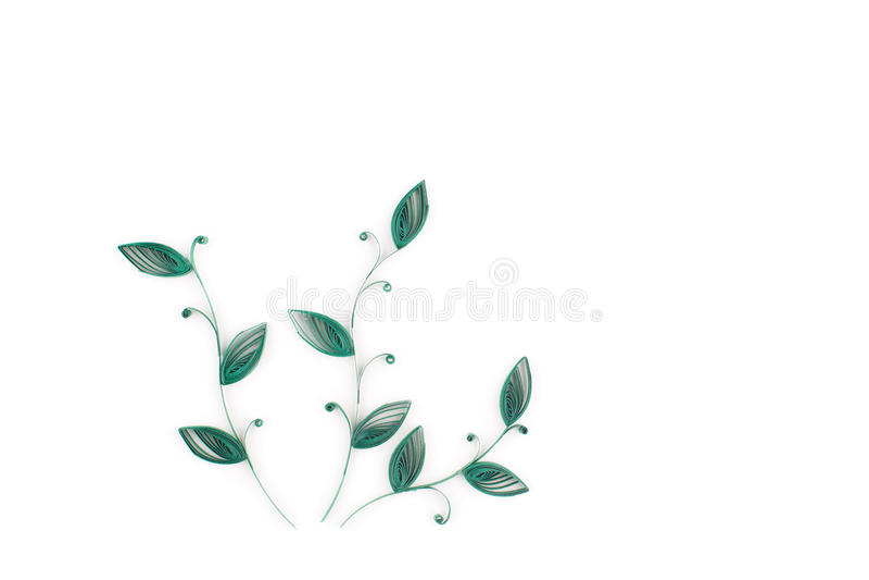 Quilling di carta, fiori di carta variopinti illustrazione di stock