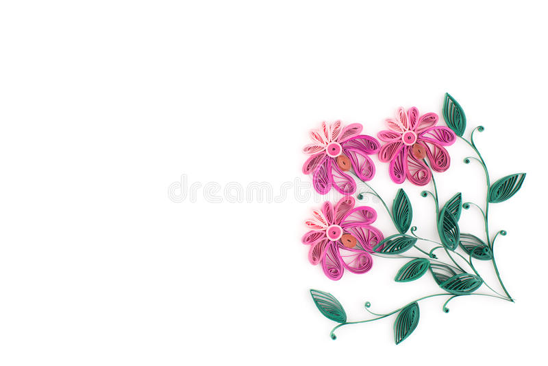 Quilling di carta, fiori di carta variopinti royalty illustrazione gratis