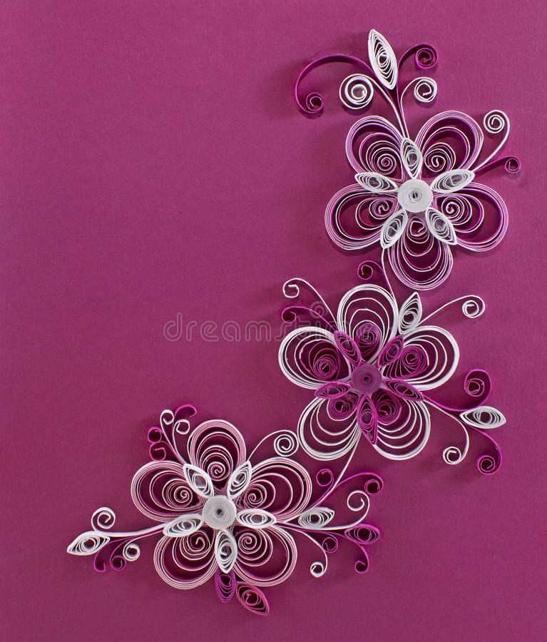 Fiori Quilling.Quilling Flowers Stock Illustration Illustration Of Copy 41085421