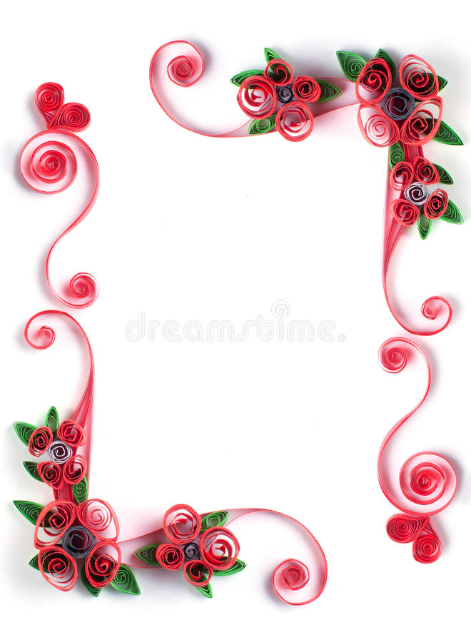 Quilling frame with paper flower stock images