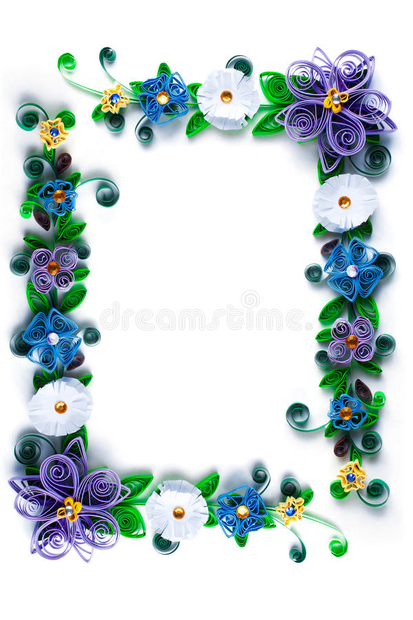 Quilling frame royalty free stock photo