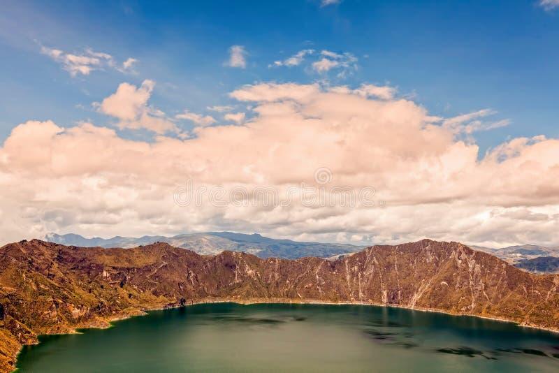 Quilotoa laguna W Ekwadorskich średniogórzach obraz royalty free