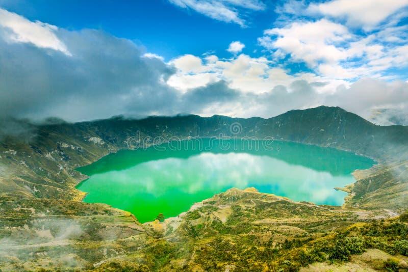 Quilotoa wulkanu laguna Hdr zdjęcia stock