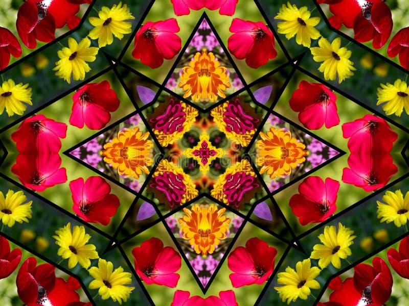 quilt конструкции флористический стоковое изображение