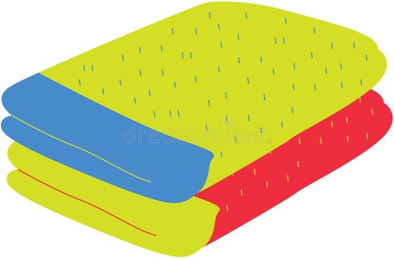 Quilt. Illustration of quilt on white vector illustration