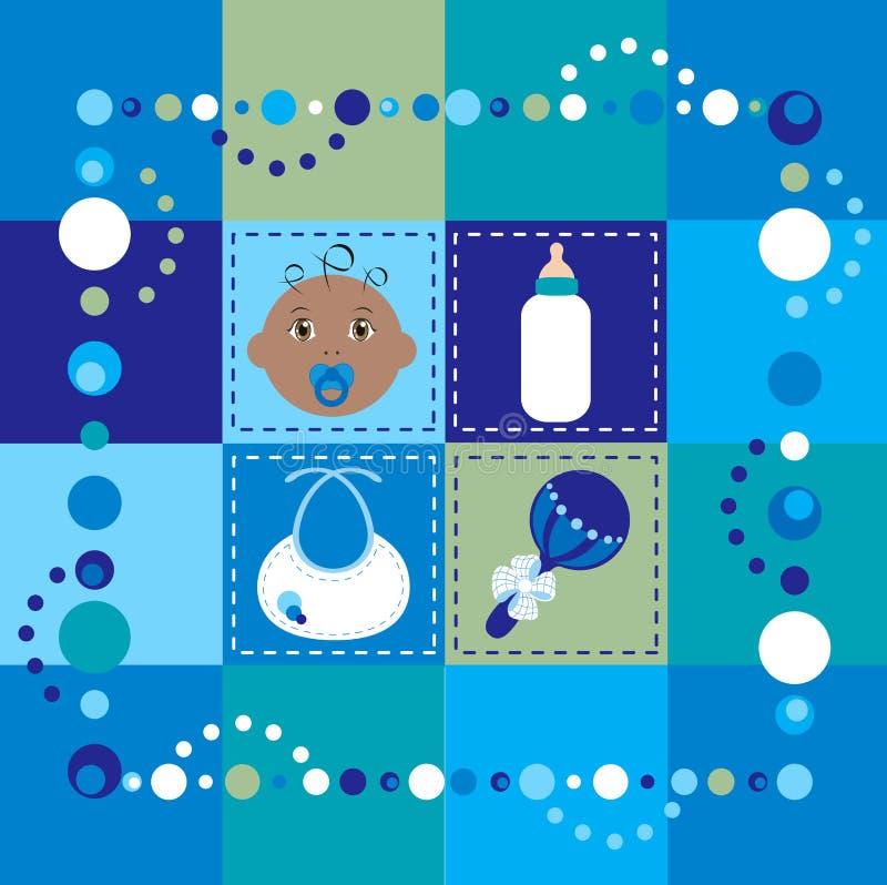 Quilt 2 do bebé ilustração royalty free