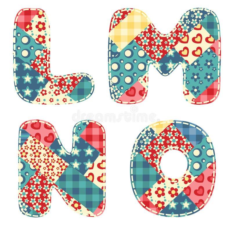 Download Quilt alphabet. stock vector. Illustration of homespun - 23622603