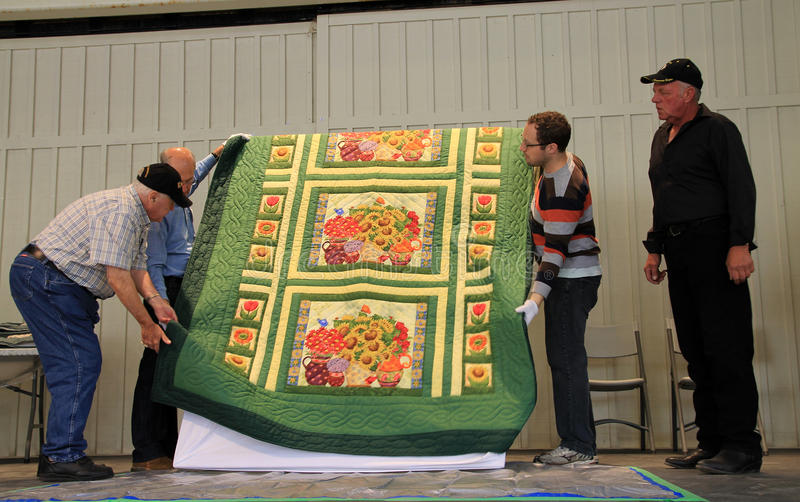 Quilt Auction royalty free stock photography