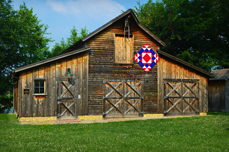 Quilt Barn royalty free stock photography