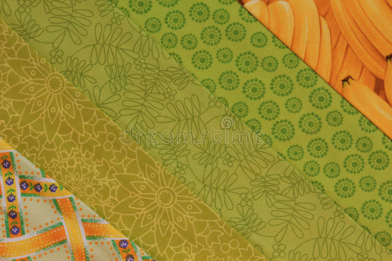Quilt block-Yellow and Green stock photo