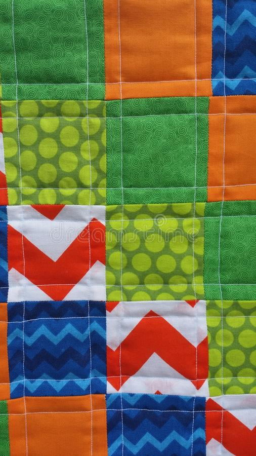 Quilt close up royalty free stock image