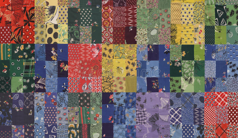Quilt pattern stock image