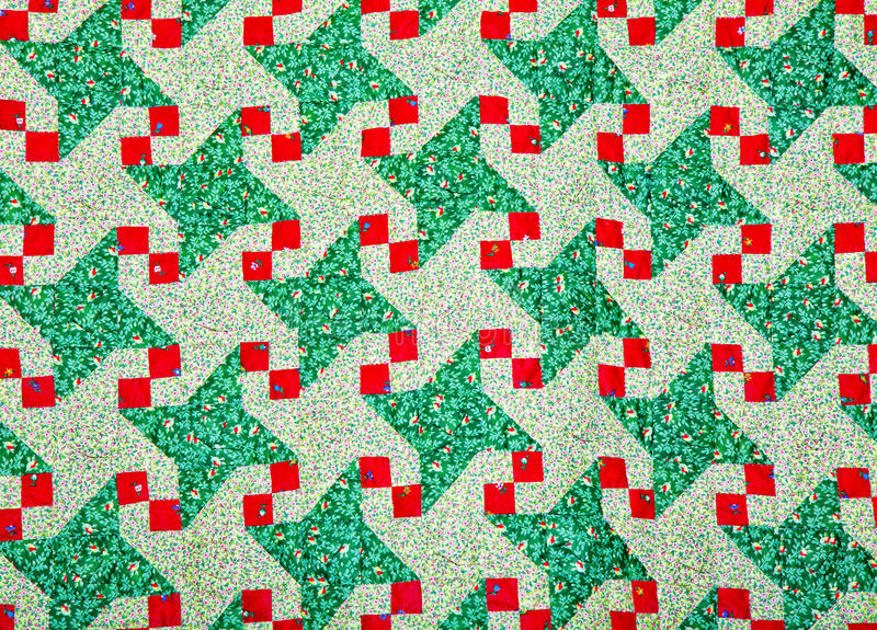 Quilt Pattern. Quilt Pattern, with flowers and leaves stock photography