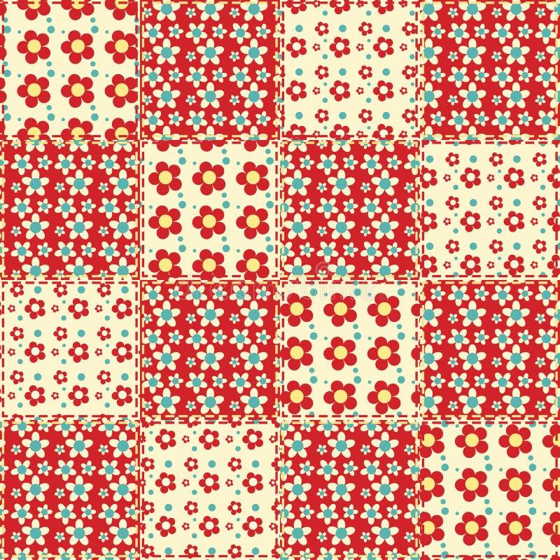 Quilt seamless pattern 1. Quilt seamless pattern. Patchwork background stock illustration