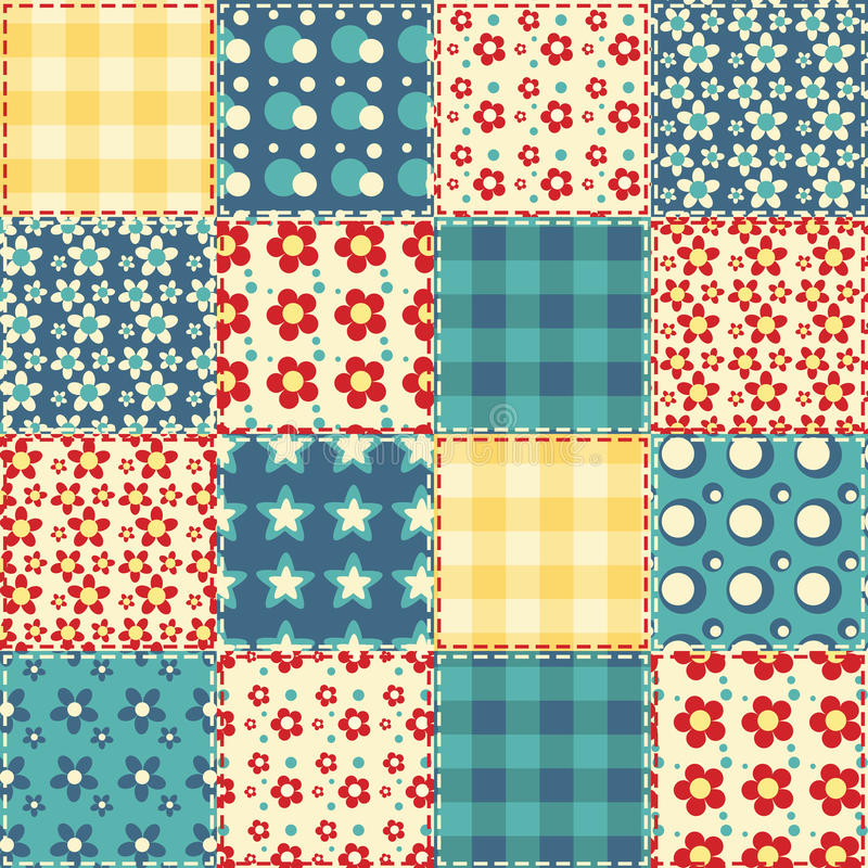 Quilt seamless pattern 3. Quilt seamless pattern. Patchwork background royalty free illustration