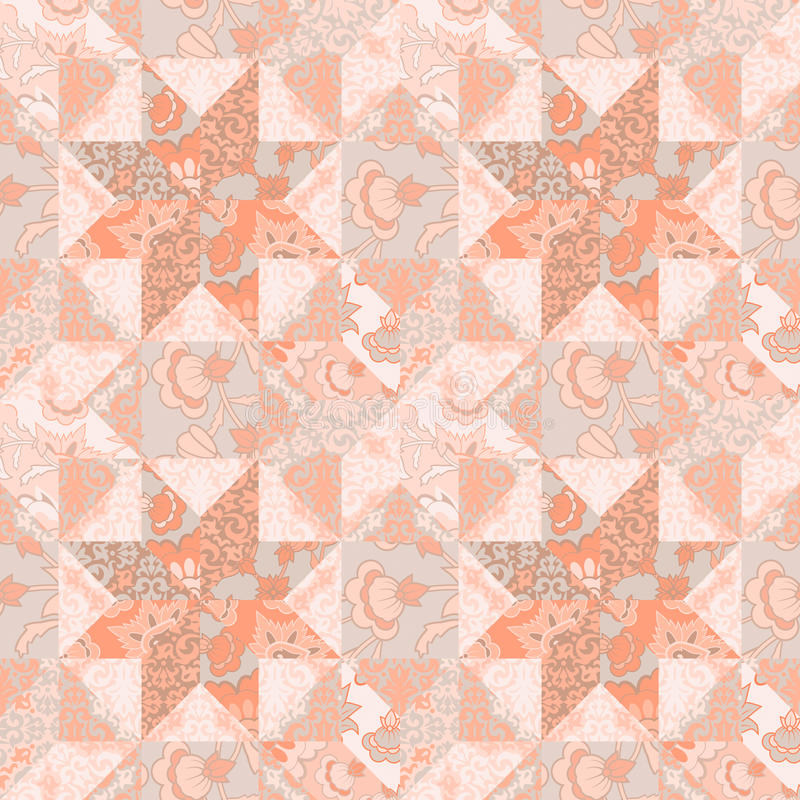 Quilt seamless pattern background star shape stock illustration