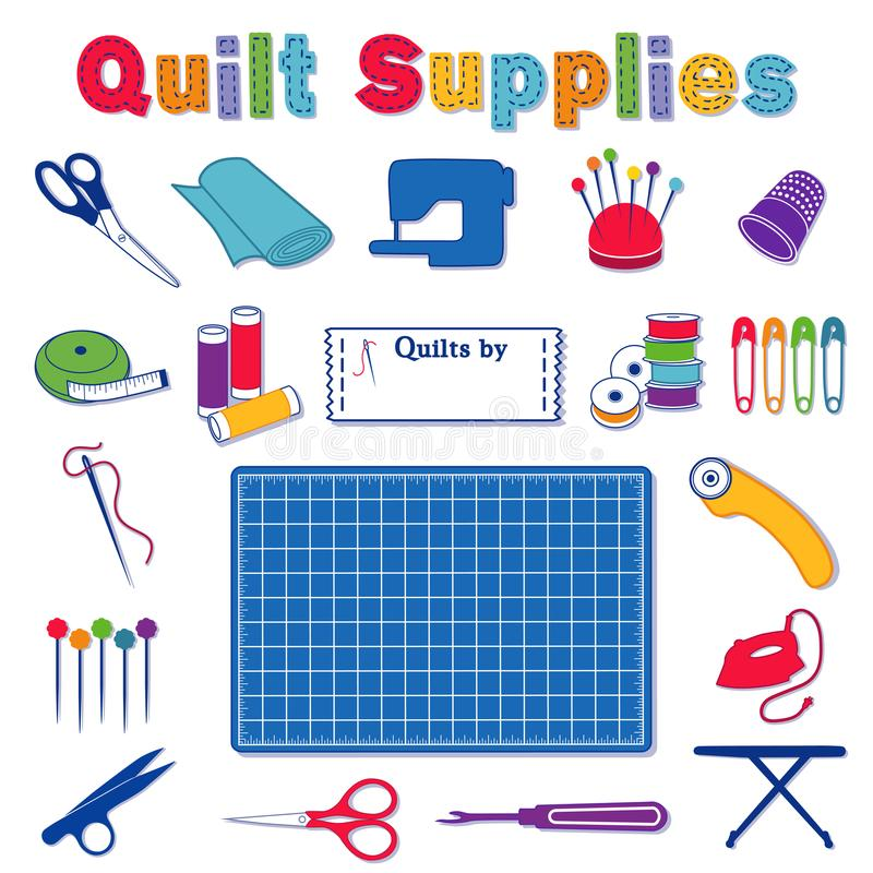 Quilt supplies and tools for do it yourself sewing stock vector download quilt supplies and tools for do it yourself sewing stock vector illustration of cutter solutioingenieria Gallery