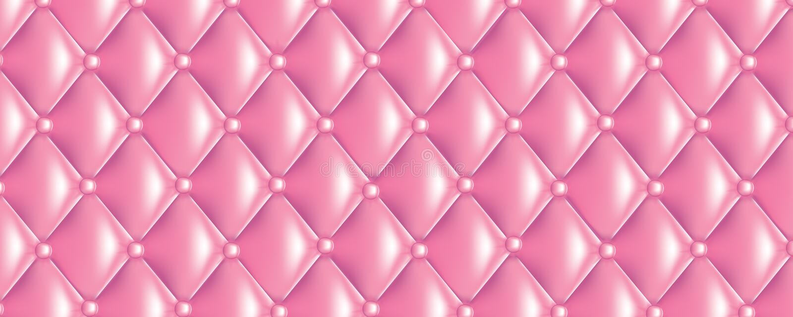Quilt texture banner. Vector quilt texture banner sweet pink colors stock illustration