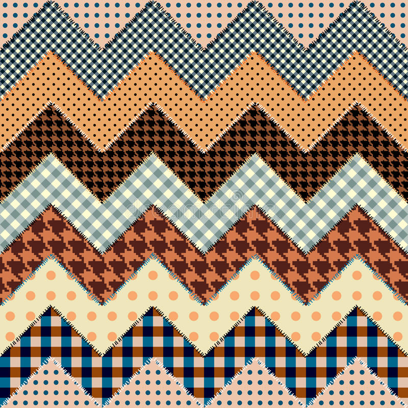 Download Quilt zigzag stock vector. Image of backdrop, seam, pattern - 28408172