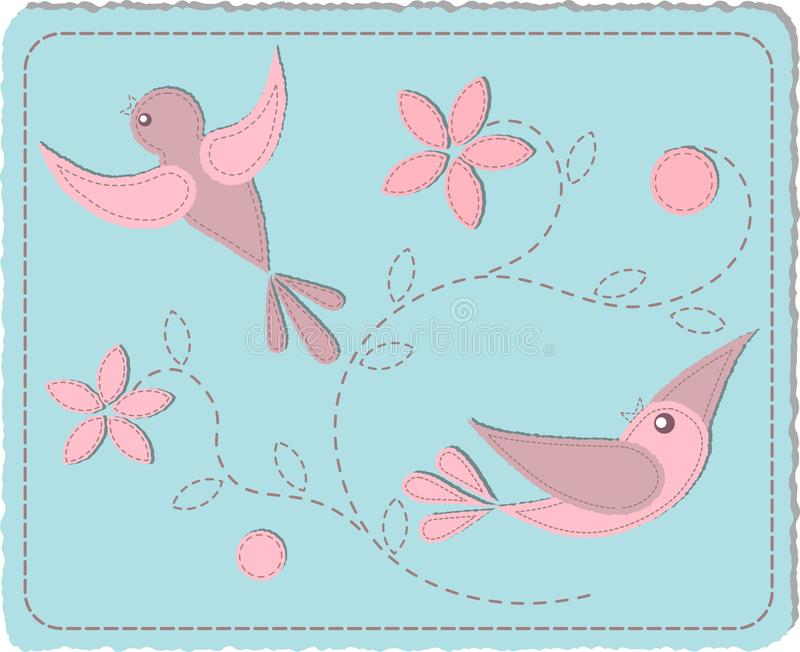 Quilted birds